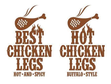 roast chicken: Best hot chicken legs signs.