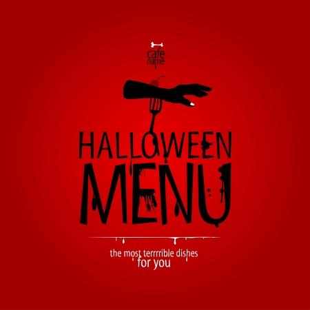 Halloween Menu Card Design template. Stock Vector - 15353108