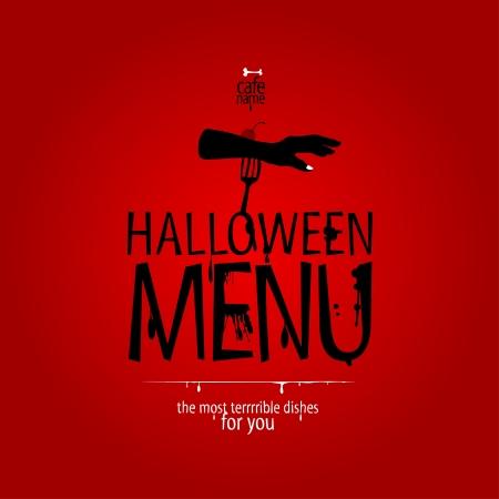 Halloween Menu Card Design template. Stock Vector - 15353108