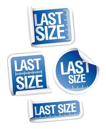 guideline: Last size clothing labels set Illustration