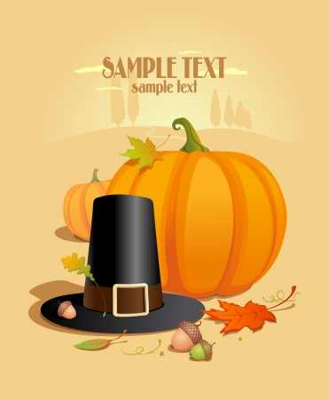 Thanksgiving Design template with place for text. Stock Vector - 15353115