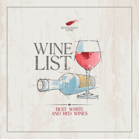 Wine List Menu Card Design template. Illustration