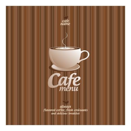 demitasse: Restaurant Menu Card Design template. Illustration