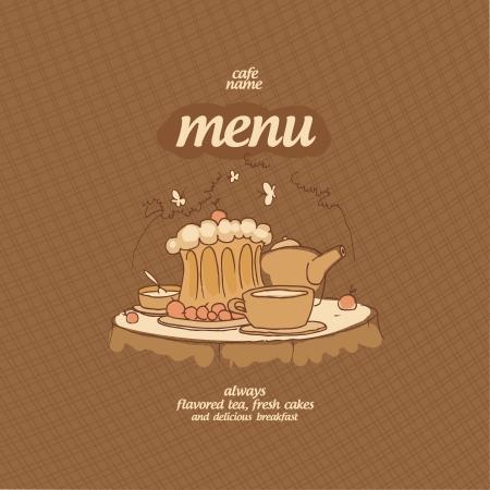 Cafe Menu Card Design template. Stock Vector - 15544181