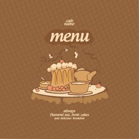 Cafe Menu Card Design template. Stock Vector - 15544181