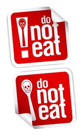 No eating and drinking sign. Vector