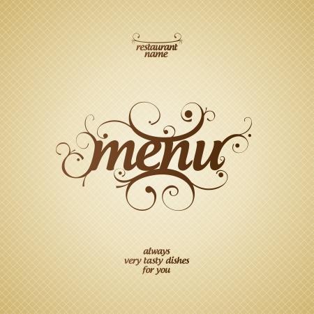 Restaurant Menu Card Design template. Illustration