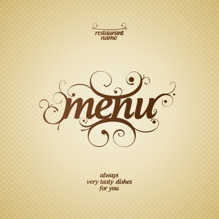 food menu: Restaurant Menu Card Design template. Illustration