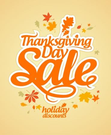Święto Dziękczynienia sprzedaż szablon.