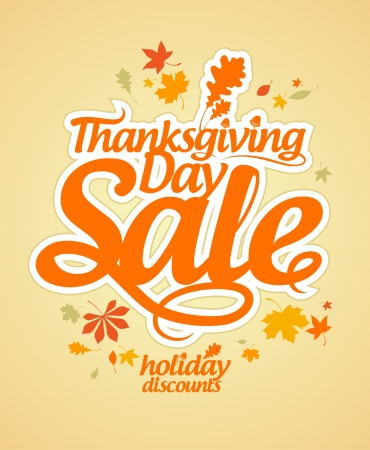 cheap prices: Thanksgiving Day sale design template. Illustration