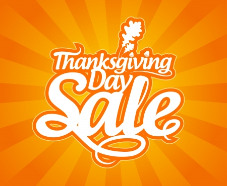Thanksgiving Day sale design template. Vector