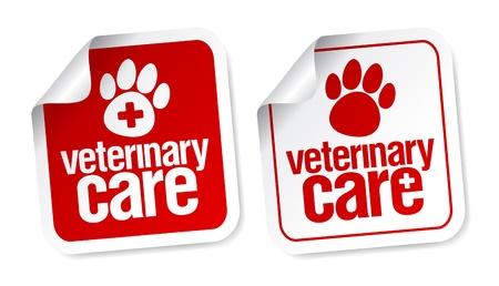 veterinarian symbol: Adesivi cure veterinarie impostato.