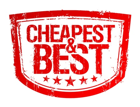 cheapest: Cheapest and best rubber stamp. Illustration