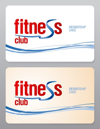 Fitness club membership card design template. Vector
