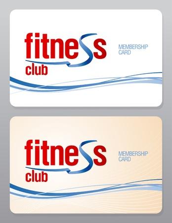 private club: Fitness club membership card design template.