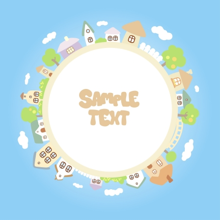 Round children frame with place for photo or text. Stock Vector - 15713837