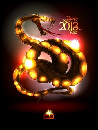 snake calendar: New Year 2013 design.illustration.
