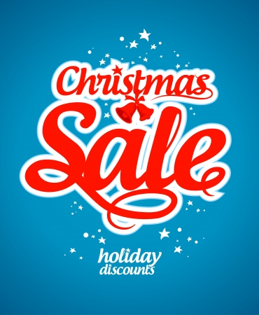 Christmas sale design template. Stock Vector - 16101806