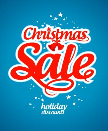 sale off: Christmas sale design template. Illustration