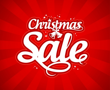 Christmas sale design template. Stock Vector - 16101811