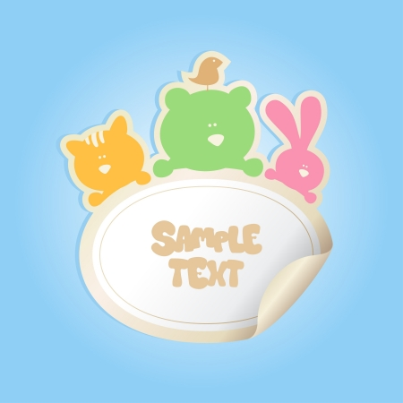 babys: Babys Sticker with place for text.