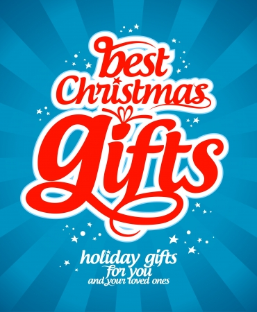 Best Christmas gifts design template. Vector