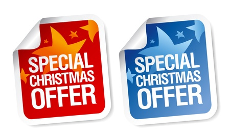 Special Christmas offer stickers set. Stock Vector - 16101974