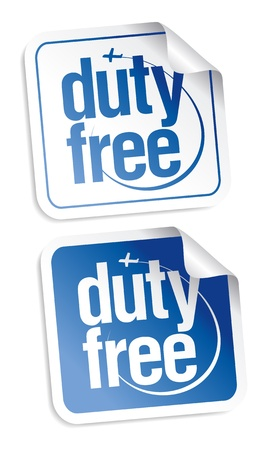 Duty free stickers set Stock Vector - 16101931