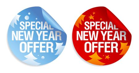 Special New Year offer stickers set. Stock Vector - 16101920