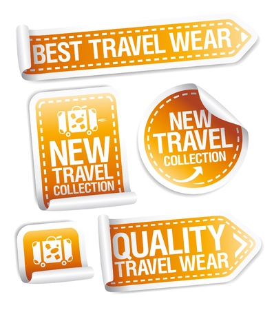 New travel wear collection stickers set. Stock Vector - 16219094
