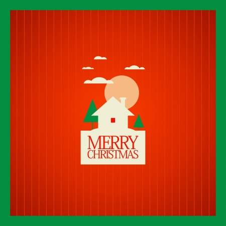 Christmas card design template. Stock Vector - 16219118