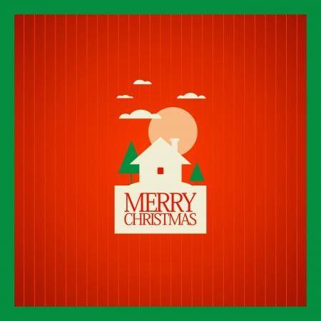 Christmas card design template. Stock Vector - 16219118