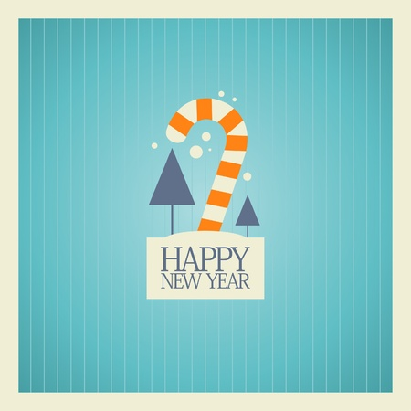 New Year card design template. Stock Vector - 16219102