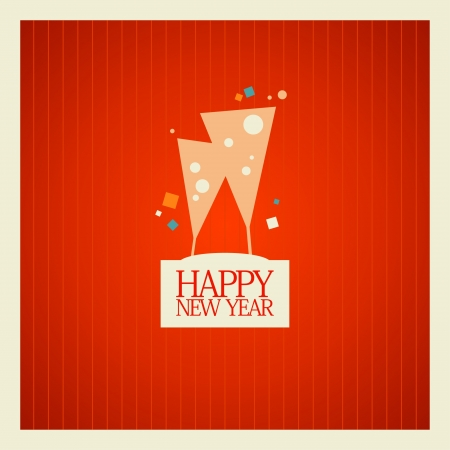 New Year card design template. Vector