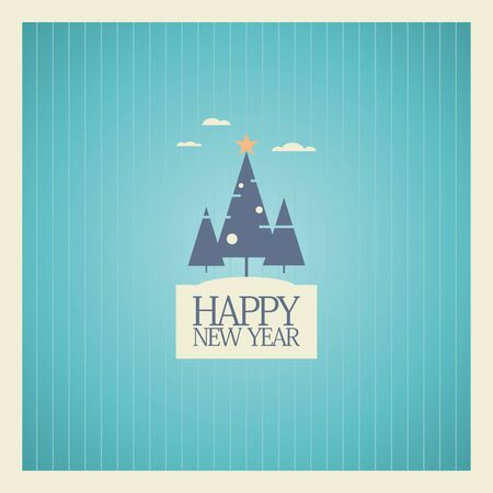 New Year card design template. Stock Vector - 16219103