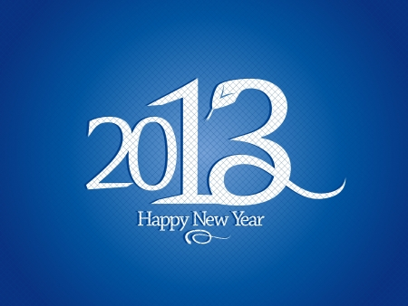 2013 year design template with snake. Stock Vector - 16318276