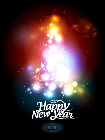 sylwester: Nowy Rok karty szablon