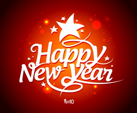 New Year card design template Stock Vector - 16318282