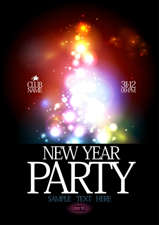new years eve background: New Year Party design template Illustration