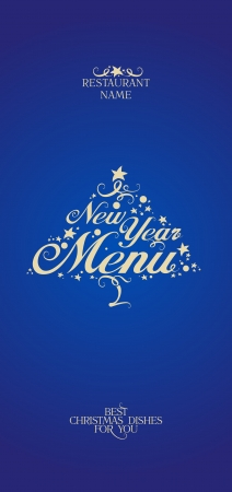 New Year Menu Card Design template. Vector