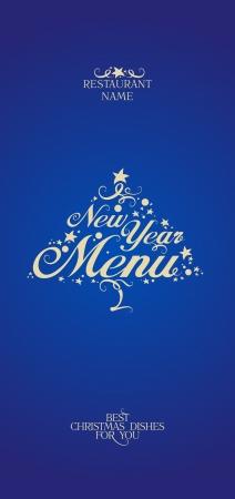 dl: New Year Menu Card Design template. Illustration