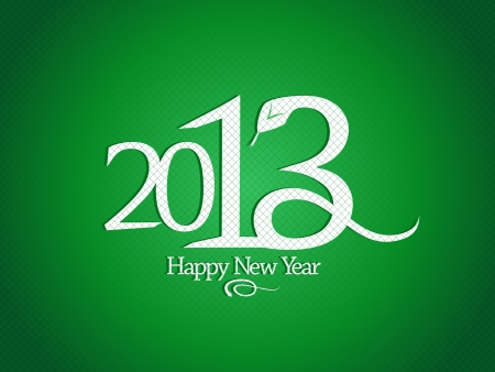 2013 year design template with snake  Vector