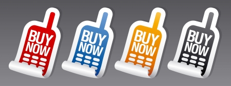 Buy now stickers set  Vector