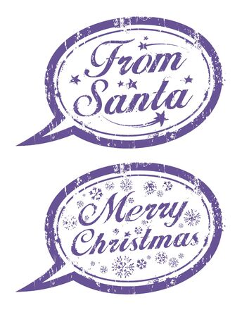 Merry Christmas rubber stamps Stock Vector - 16527936