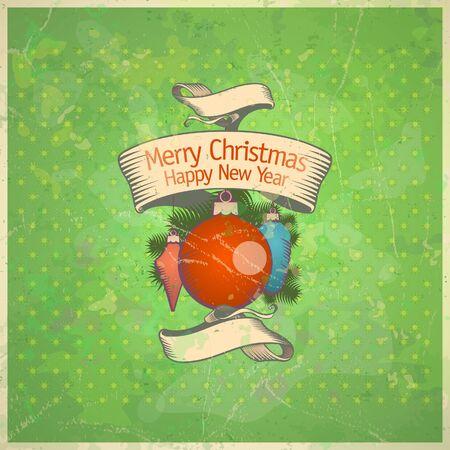 Retro Christmas card. Stock Vector - 16527978