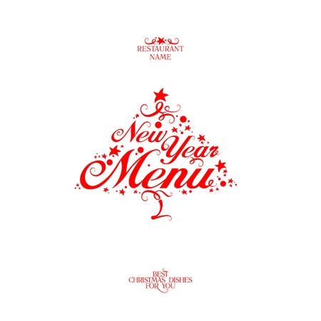 New Year Menu Card Design template. Stock Vector - 16527910