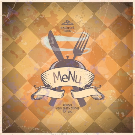 Retro restaurant menu card design template.  Stock Vector - 16527958