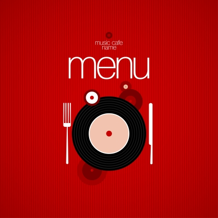 Music Cafe Menu Card Design template Stock Vector - 16527984
