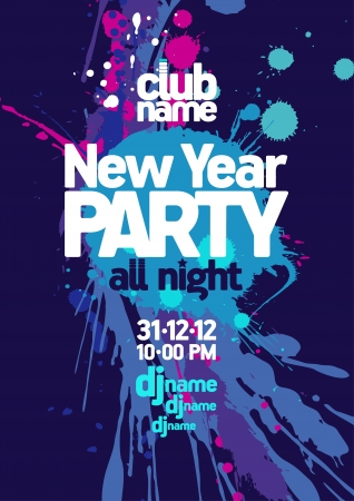 New Year Party design template  Vector