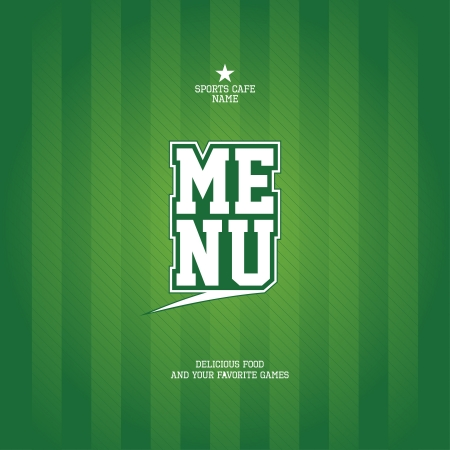 football fan: Sports Bar Menu card design template   Illustration